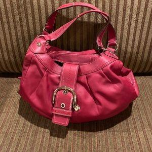 Coach leather Shoulder Bag - Red